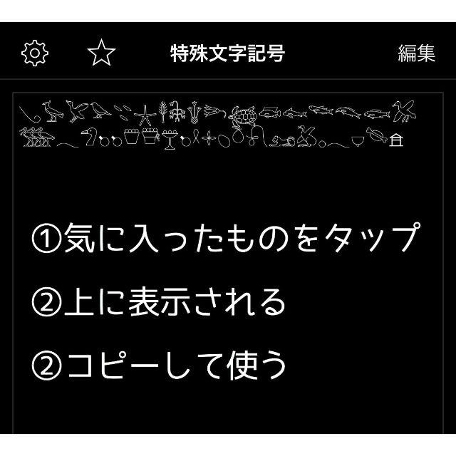 コピー 特殊 文字